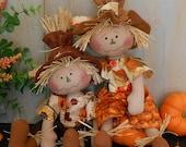 Harvest Scarecrow Raggedy Doll # 83 PDF e Pattern Fall Primitive Folk Art Sewing Craft Autumn Fabric