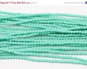 ON SALE Matte Turquoise 2mm Fire Polished