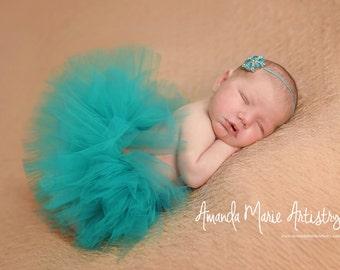 Teal tutu, baby tutu, newborn tutu, baby girl tutu, newborn photography prop, baby girl prop, birthday tutu