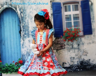 Ready to ship size 5-6 Beechwood Park Red Twirl Dress