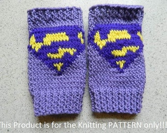 Knitting Pattern: Iron Man Fingerless Gloves by DuckyDame on Etsy