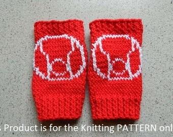 Iron Man Knitting Pattern : Knitting Pattern: Iron Man Fingerless Gloves