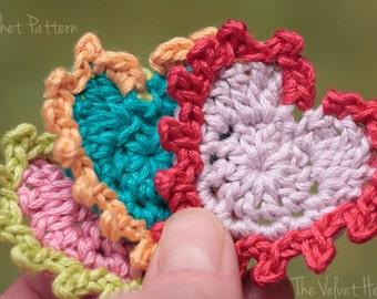 Crochet Heart Pattern, Easy Crochet Pattern, Crochet Applique Pattern (36)