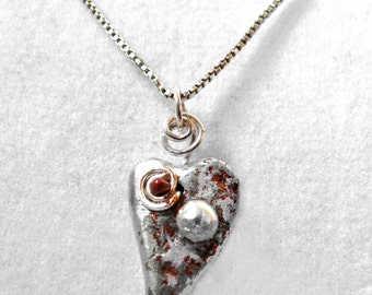 Valentine heart and soul necklace