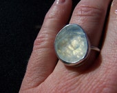Rose cut moonstone ring: made to order