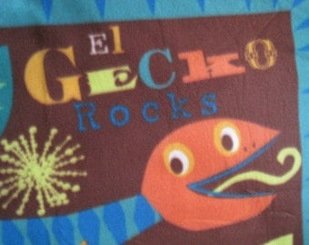 El Gecko with Green Coverlet - Ready to Ship Now