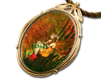 Sparkle Fairy Bronze Art Pendant