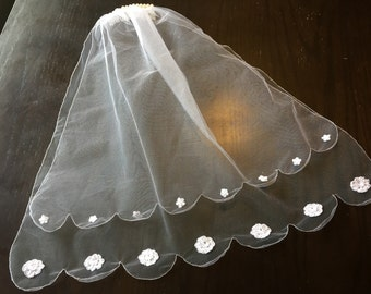 First Communion Veil matching Princess Grace dress MBV004