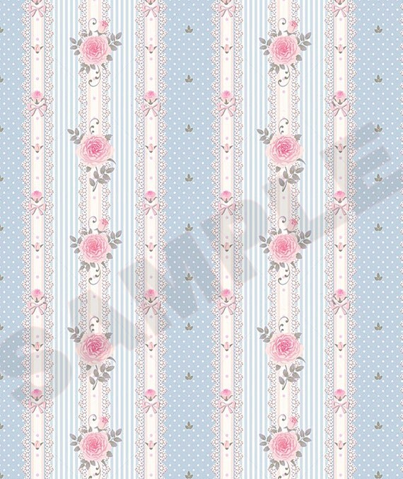 Download Victorian Dolls House Wallpaper Gallery: Printable Vintage Victorian Dollhouse Wallpaper Download 1:12