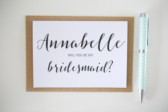 Personalised Wedding Cards || Will you be my bridesmaid? Maid of Honour? Flower Girl?