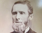 Vintage Cabinet Card Photograph of Man with Beard
