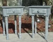 Set Of 2 Bedside Tables, Night Stand, End Table, Farmhouse Style, Rustic Furniture,