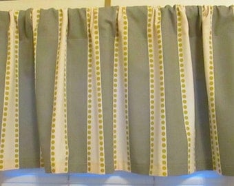 SALE SALE  Window CURTAIN Valance Premier Prints Grey LuLu