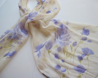 Sheer Splendor Chiffon Scarf silk long lavender