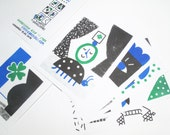 Cards of luck, risographie