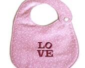 Pink LOVE bib