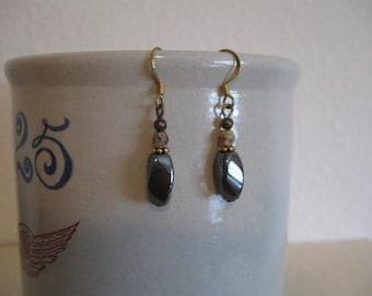 Stunning Black Swirl Dangle Earrings & Matching Bracelet
