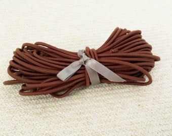 2.5mm Brown Elastic Cord - Choose your length