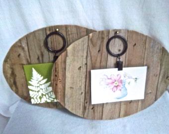 Handmade Redesign Reimagined Rustic Lattice Wallhanging / Photo / Art Display Woodland Set