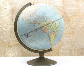 1964 Vintage Replogle Comprehensive Globe 12 Inch Diameter Desk Globe,Wedding Table Decor, Item No. 5917