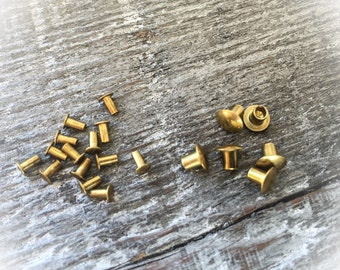 Brass Rivets for EZ Riveter Jewelry Supplies