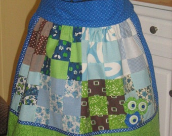 Reversible Adult Spring Time Quilted Waist Apron