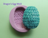 Dragons Egg Silicone Mold Soap Resin Wax Fondant Polymer Clay Flexible Mold