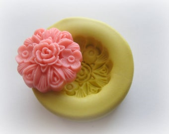 Cabochon Flower Mold Rose Polymer Clay Flowers Cabochon Mold Resin Clay Mould