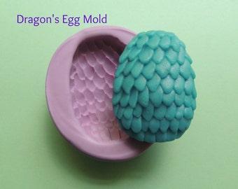 Dragons Egg Silicone Mold Soap Resin Wax Fondant Polymer Clay Flexible Dragon Egg Mold