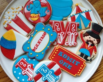 Circus Carnival Collection Sugar Cookies