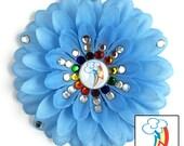 Rainbow Dash Penny Blossom Sparkly Rhinestone Flower Barrette