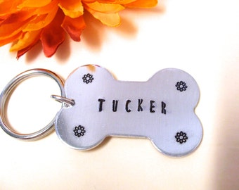 Dog Keychain, Dog Bone Keychain, Personalized Dog KeyChain, Pet Keychain, Animal Keychain, Cat Keychain