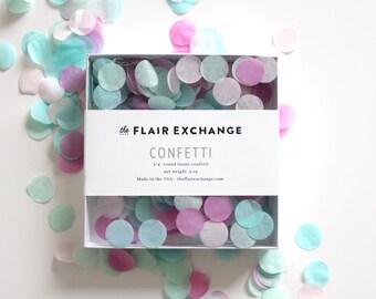Wedding Confetti - Hand-Cut Confetti - CANDY SHOPPE : Raspberry, Mint, Aqua, Blush