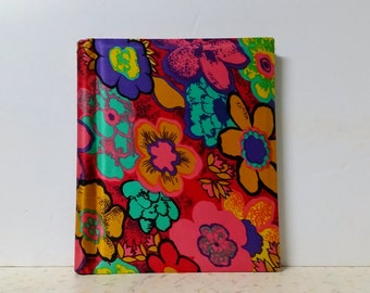 Vintage Flower Power Mid Century Photo Album Dayglo Bright Psychedelic
