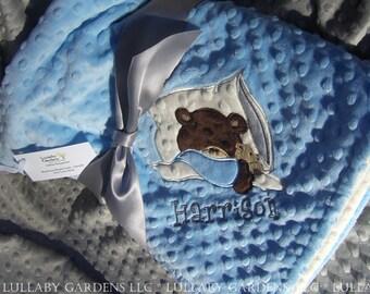 Teddy Bear Personalized Minky Baby Blanket, Personalized Minky Baby Blanket, Personalized Baby Gift, Teddy Bear Nursery, Teddy Bear Blanket