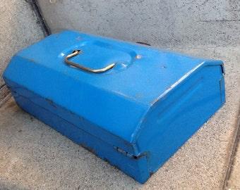 Blue Metal Tool Box