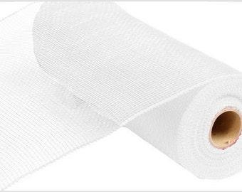 10 Inch White Deco Mesh Roll RE130227, Deco Mesh Supplies