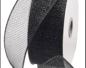 2.5 Inch Black Deco Mesh Ribbon RS200002, Deco Mesh Supplies