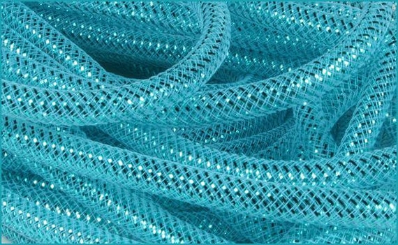 8mm Turquoise Laser Turquoise Foil RE3007A9, Flexible Tubing, Poly Mesh Supplies (10 Yards)