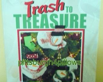 1/2 Price - Leisure Arts - Trash To Treasure Christmas - Assorted Crafts - 1999 - No Damage