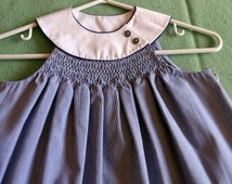 Little Snowdrift - Girl's Smocked Dress Pattern - Judith Marquis