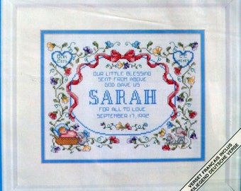 Our Little Blessing - JCA - Lorri Birmingham - Counted Cross Stitch - Kit #04404 - 14 Ct. Aida