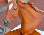 Vintage, finely crafted head of a stallion by The Kaiser Company in Germany. Makers of fine porcelain.