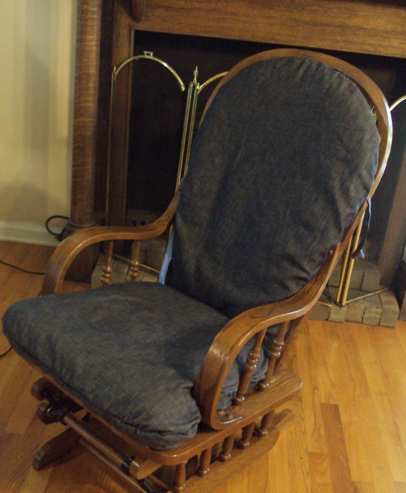 Glider Rocker SLipcover  - Replacement  covers for your Glider -Blue Denim