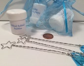 20 Frozen - Cinderella - Brave - Maleficent Party Favors - Bubble Wands with Personal Message - Choose Your Colors - 100% Handmade in USA