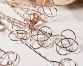 Wedding and Party Favors - 60 Celtic Love Knot Bubble Wands with Bubbles - Personalized Gifts - 100% Handmade in USA