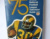 vintage paperback, NFL Report '75, National Football League, Television Guide, Football games, Football players, stats, pictures, unique