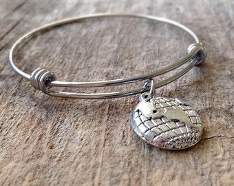 World Traveler Bangle Bracelet, Travel Bracelet, Wanderlust Jewelry, Expandable Bangle, Stackable Bangle, Bohemian Jewelry