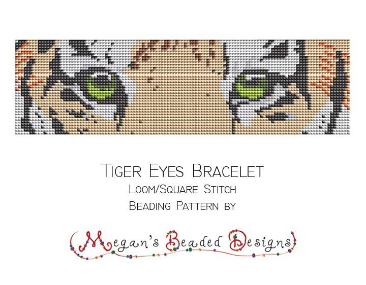 Sehr Métier à tisser perles motif Tigre yeux Bracelet pour métier à CM16