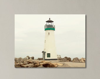 "Lighthouse Canvas Art, Walton Lighthouse, Santa Cruz California, Nautical Canvas Print, Northern California ""Walton Lighthouse"""